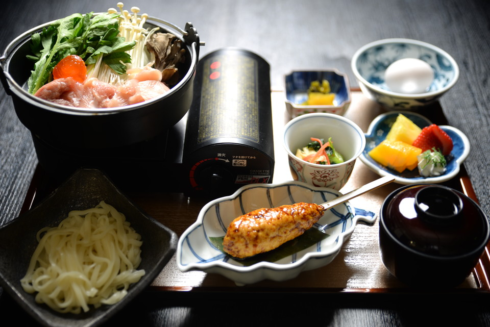 岡山県産地鶏すき焼き鍋膳